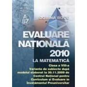Evaluare natională 2010 la matematică cl. VIII-a