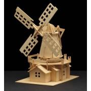 Puzzle eco 3D din lemn Windmill Pebaro