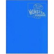 Monster Binder - 4 Pocket Trading Card Album - Matte Blue (Anti-theft Pockets Hold 160+ Yugioh Pokemon Magic the Gathering Cards)