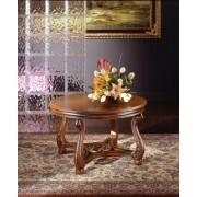 Ben - rozettás kisasztal fa felülettel