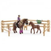 Schleich Unisex Figurines and playsets White Rider with Icelandic Ponies