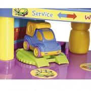 WADER Toy Garage Baby Car Garage Giocattoli Parkhaus gioco Garage NUOVO
