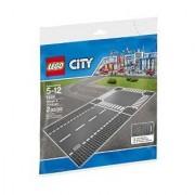 Lego 7280 City Town Straight And Crossroad Plate Building Kit Multi Color