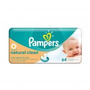 Servetele umede Pampers Natural Clean 64 file