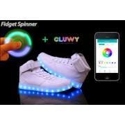 LED topánky Sneakers biele - App na zmenu farieb cez mobil