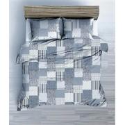 100% pamut 3 részes ágyneműhuzat garnitúra 140x200 cm - barna virágos