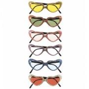 Glitterbril met hartvormige glazen