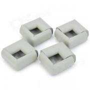 Baby Kid Soft EVA Foam Table Edge Corner Safety Guard Cushion w/ Adhesive Tape - Light Grey (8 PCS)