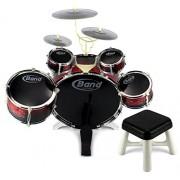Velocity Toys Scarlet Jazz Drum 01 5 Piece Children s Kid s Toy Musical Instrument Drum Playset w 5 Drums 3 Cymbals Kick Pedal Drumsticks
