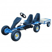Blue Pedal Go-Kart Two Seats & Trailer