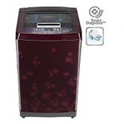 LG T7567TEDLX 6.5 KG Top Load Fully Automatic Washing Machine - NEW RED FLORID / WINE BLACK