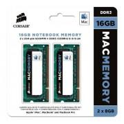 Corsair CMSA16GX3M2A1333C9 Apple Mac 16GB (2x8GB) DDR3 1333Mhz CL9 Mémoire pour ordinateur portable SODIMM pour produits Apple.