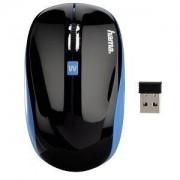 Безжична оптична мишка AM-7600 USB, чернo-синя, 4-бутонна HAMA-134912