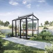 Oas Mini 3,8 m² Växthus Victorian Svart