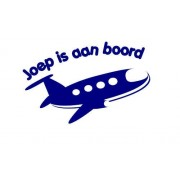Aan boord sticker Vliegtuig