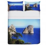Completo lenzuola Matrimoniale stampa Digitale Pierre Cardin 100% cot Capri H981