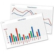 Write & Wipe Graph Desk Mats (Set of 30)