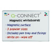 Drywipe Magnetic Whiteboard Q Connect 1800x1200mm