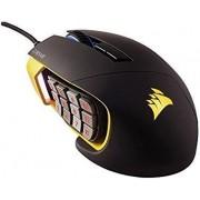 Mouse Gaming Corsair Scimitar RGB MOBA/MMO (Negru/Galben)