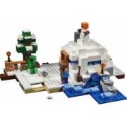 Set Constructie Lego Minecraft Ascunzisul Din Zapada