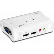 Switch KVM Trendnet TK-209K 2-Port USB Kit with Audio