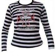 Bluzka damska - longsleeve w paski marki Hell Cat Punks