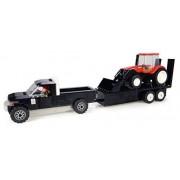 Universal Hobbies Uhk1206 - Pick Up Avec Sa Remorque - Tracteur En Briques - Case Avec Chargeur Et Fermier - 231 Pièces