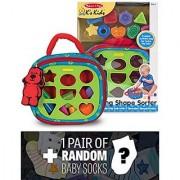 Ks Kids Take-Along Shape Sorter Baby Toy + 1 FREE Pair of Baby Socks Bundle [91855]