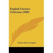 English Literary Criticism (1896) by Charles Edwyn Vaughan