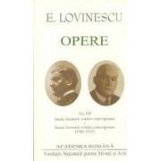 Opere Vol I+II E. Lovinescu