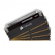 Mémoire RAM Corsair Dominator Platinum 64 Go (4x 16 Go) DDR4 3200 MHz CL16 - Kit Quad Channel 4 barrettes de RAM PC4-25600 - CMD64GX4M4C3200C16 (garantie à vie par Corsair)