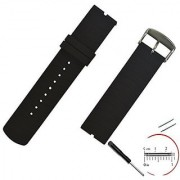 VIMVIP 22mm / 210mm L Sport Silicone Smart Watch Replacement Band with 2 Pins Tool Screwdriver for Motorola Moto 360(Black)