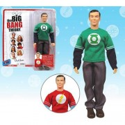 Big Bang Theory Sheldon Green Lantern T-Shirt 8-Inch Figure