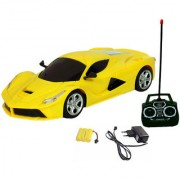 Fantasy India Rechargeable Remote Ferrari Toy Car - (Red Yellow Orange)