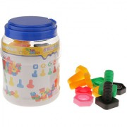 Magideal Kids Screw Pair Soft Splicing Building Blocks Desktop Fun Developmental Toy