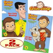 Curious George Coloring and Activity Book Set (2 Coloring Books) by PBS Kids