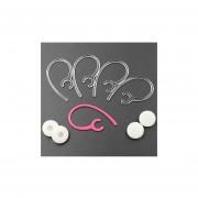 Ear Hook, Bluetooth Headphone Ear Hook, ALXCD 4 Pcs Transparent Durable Replacement Ear Hook For Wireless Bluetooth Headset & 4 Pcs Foam Ear Tips, Fit For Samsung Hm1300 Hm1900 Hm3300 Hm6000