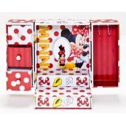 Disney 91018 - Minnie Grande Portagioie con Cassetti, Ganci e Vari Scomparti - con Carillon - in Confezione Regalo, 15x12x21 cm