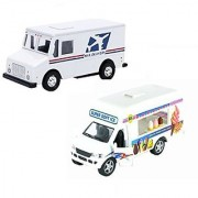 USPS Mail Truck With Ice Cream Vending Truck (2 Trucks (Usps-Ice Cream))