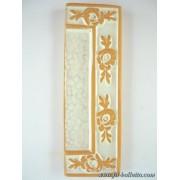 Numero civico ceramica con fiore bianco nfb14