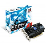 MSI R7 250 2GD3 OCV1 - Carte graphique Radeon R7 250 - 2 GB DDR3 - PCIe 3.0 x16 - DVI, D-Sub, HDMI