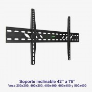 "Soporte de pared inclinable SSP-328N para pantallas de 42"" a 75"""