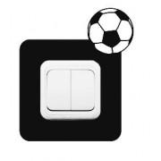 Väggstickers Fotboll att sätta runt kontaktuttag - Svart