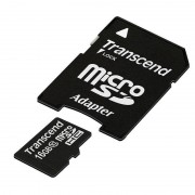 Card Transcend microSDHC 16GB Class 10 cu adaptor SD