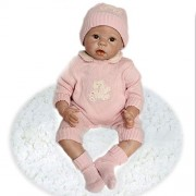 Realistic and Lifelike Reborn Baby Doll Very Soft Silicone Vinyl With Stuffed PP Cotton Body Newborn baby Doll girl 22 Inches