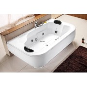 items-france SAMOA - Baignoire 2 places droite contemporaine 180x110x68