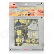 Creativa acero inoxidable de DIY Avion Educativo Puzzle Toy - Plata