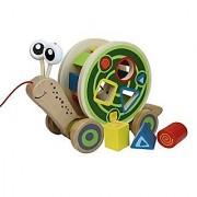 Hape - Walk-A-Long Snail Wooden Pull Toy