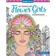 KC Doodle Art Flower Girls Coloring Book by Krisa Bousquet