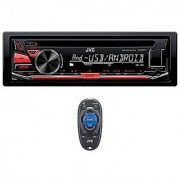 JVC KD-R470 Single DIN In-Dash CD/AM/FM/ Receiver w/ Detachable Faceplate Front USB and 3.5mm Auxiliary Input